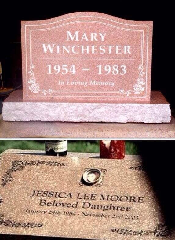 Mary Winchester and Jess.... Interesting... Does it say that Jess has the same birthdate as Dean?