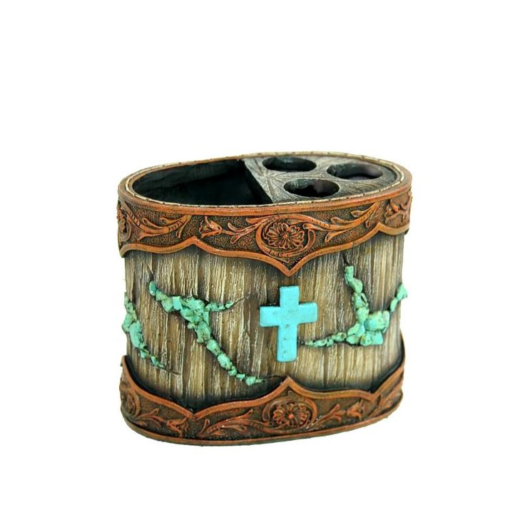 Western Toothbrush Holder