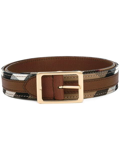 Shop Burberry checked belt.