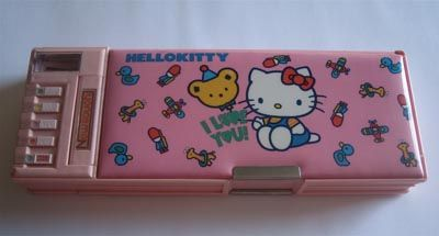 Remember those crazy pencil cases with all the buttons and pop out trays?!  I want one again!!