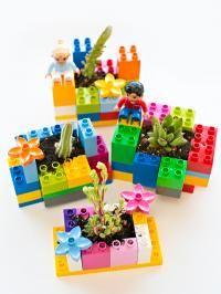 Des pots en LEGO pour les plantes