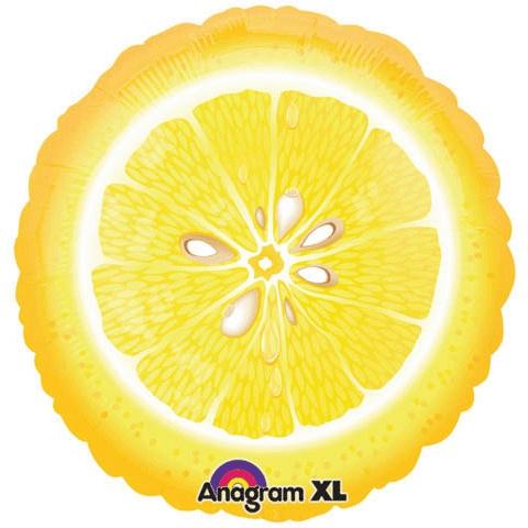 Lemon slice helium mylar balloon 18 for Lemon shaped lemonade stand
