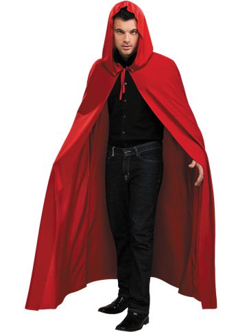Rode Cape met Capuchon - Volwassenen Kostuum front