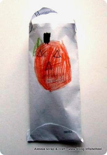 Lavoretti di Halloween dei bambini: busta porta dolcetti... realizzate le vostre buste personalizzate e mostratecele!