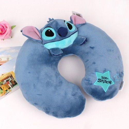 Disney Stitch Star Neck Pillow Cushion Girl Drive Lilo and Stitch Toy Plush Doll