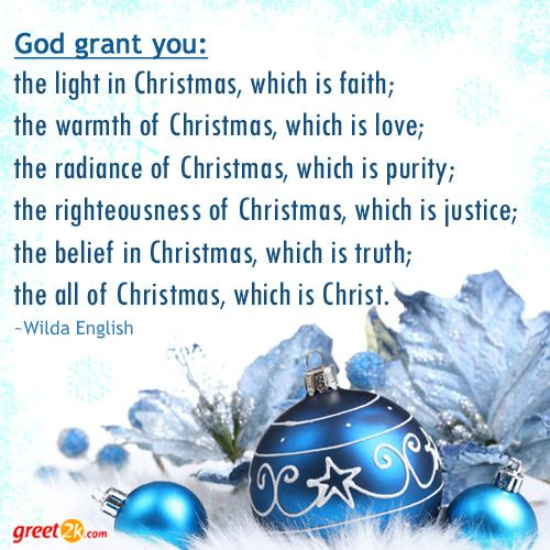 God Grant You: The Light In Christmas, Which Is Faith; The