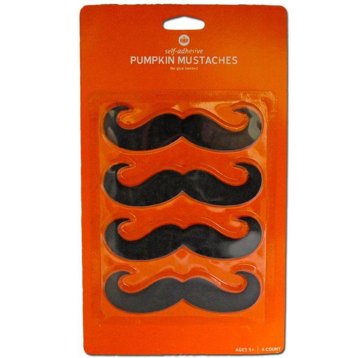 Fancy Dress Costume Accessory - Handlebar Moustache 4pc Set