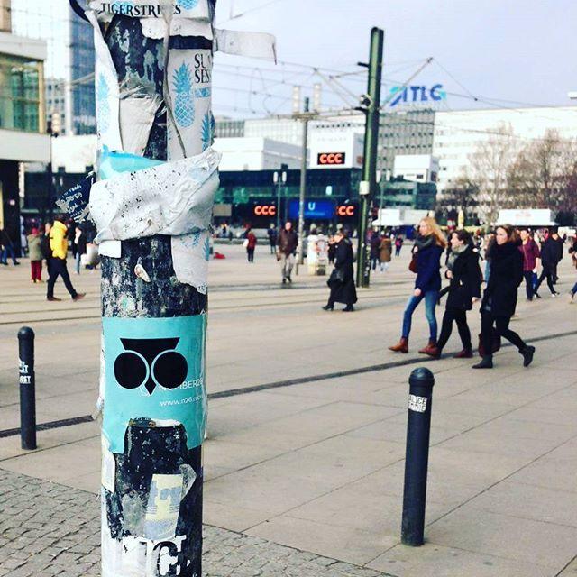 Stickers stickers stickers  #SOWL  #sowlcreativestudio  #bekouti  #stickers  #stickerbomb  #stickerbombing  #berlin  #germany  #alexanderplatz  #friend  #brand  #artist  #vsco  #vscogood