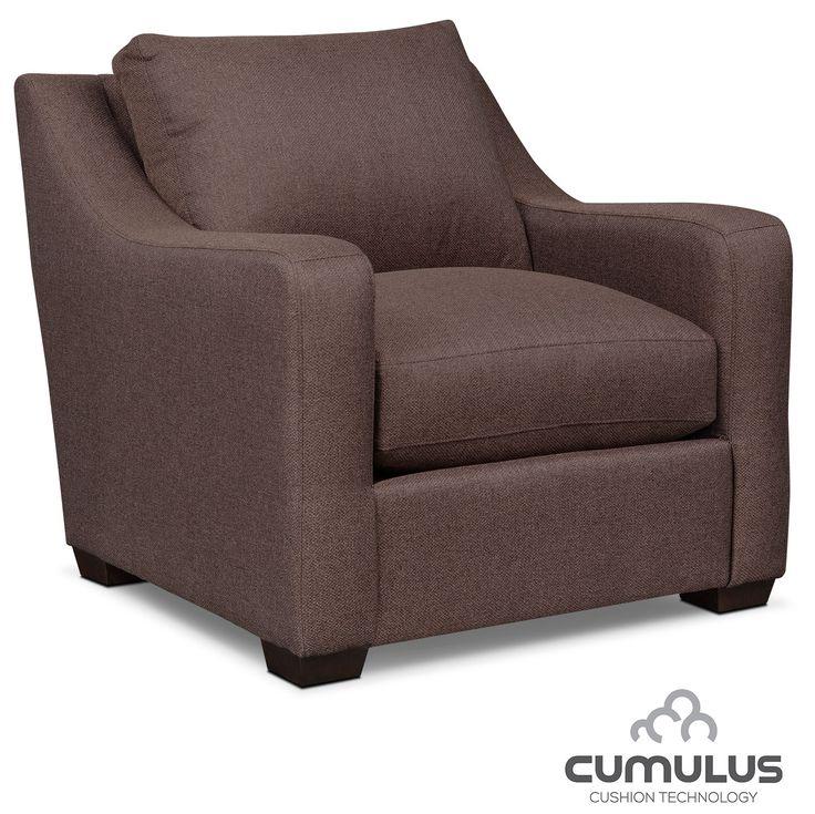 Jules Cumulus Sofa And Chair Set   Brown
