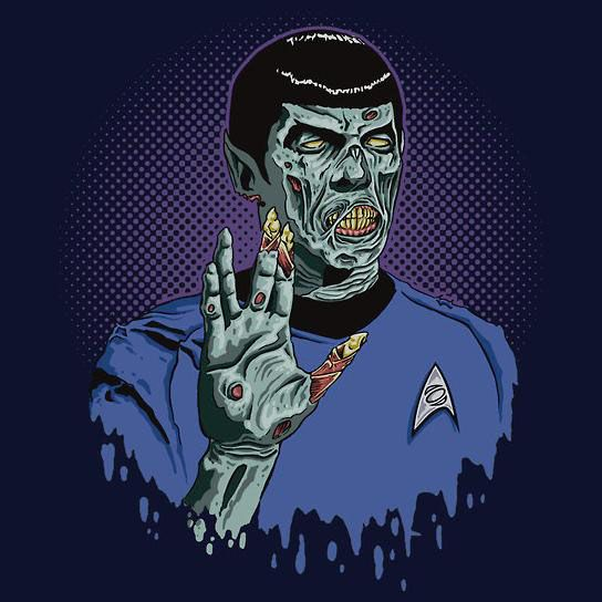 star trek zombies | Available at Redbubble , this Star Trek Zombie mash-up is available in ...