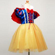 Nowe Letnie Dziewczyny Śnieżka Księżniczka Sukienki Dzieci Dziewczyny Suknie Cosplay Kostium Halloween Party Boże Narodzenie Dzieci Dziewczyna Odzież(China (Mainland))