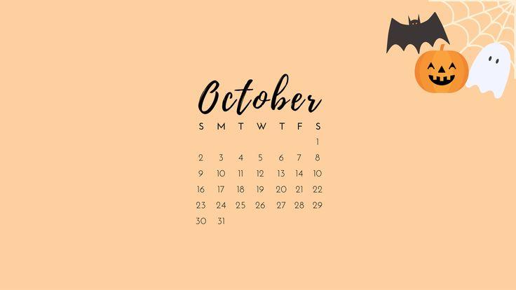 'October 2016' Calendar Desktop Wallpaper
