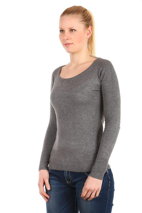 Jednobarevný dámský svetr - koupit online na Glara.cz  glara  fashion  svetr c74215a2f8