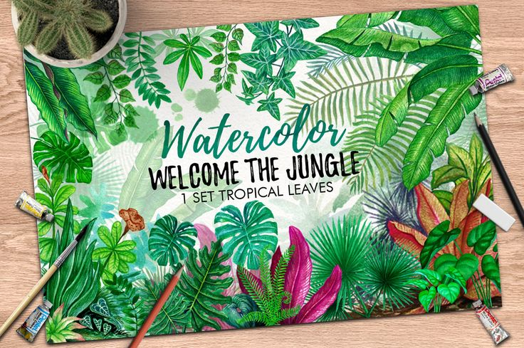 Tropical Leaves in the Jungle by iGRAPHOBIA on @creativemarket