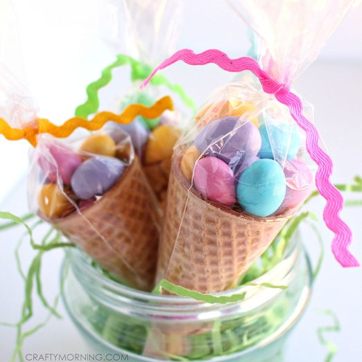 25 unique cellophane cone bags ideas on pinterest candy cone heres a sweet little easter gift idea that you can make for kids co negle Images