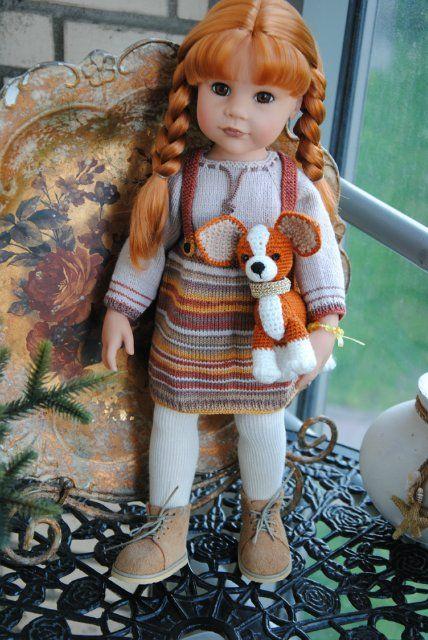 Gotz: очень красивая ООАК Ханна на прогулке с собачкой 2014 / Игровые куклы / Шопик. Продать купить куклу / Бэйбики. Куклы фото. Одежда для кукол