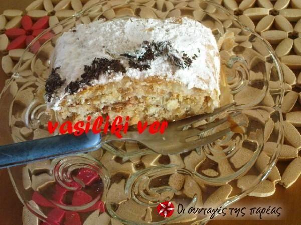 Στρούντελ με περισσεύματα κέικ ή τσουρέκι #sintagespareas