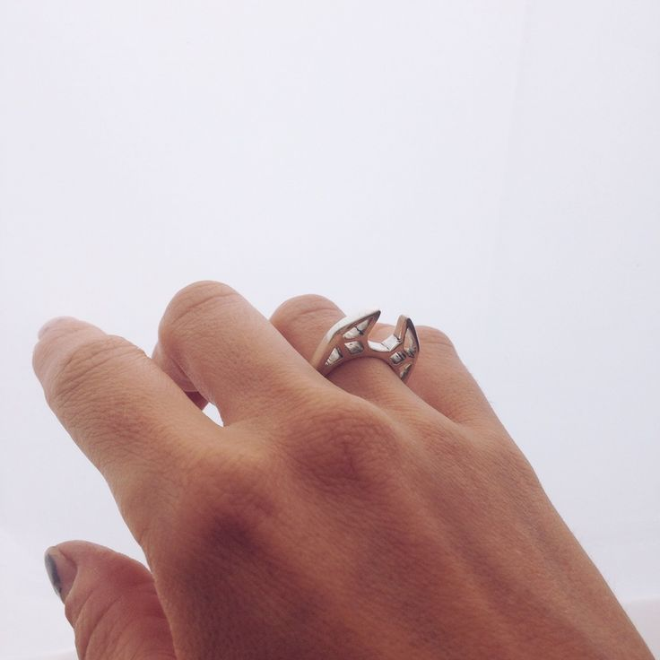 Peer through the eye, the eye of DEZNA. Ring made from solid non-tarnishing stirling silver.