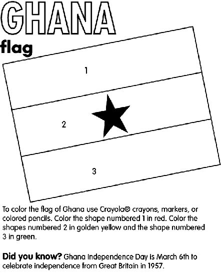 Do you know what colors are in the flag of Ghana? Print a couple of these out and mail one to your sponsored child with your next letter.