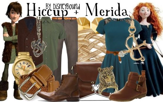 Disney Bound - Merida + Hiccup (Brave and How to Train Your Dragon Mash-up)