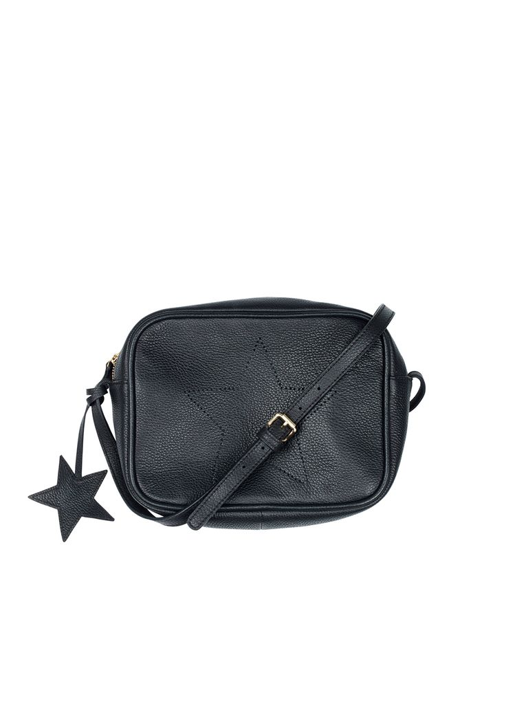 Accentuated with a leather star pendant and star printed lining, our softly structured Margaux box bag is the perfect accessory for your day-to-night wardrobe. • Adjustable strap. • Perforated star outline. • Zip fastening. • Soft, lightweight leather. • Measurements: 25cm x 17cm x 7cm. Strap: 134cm.