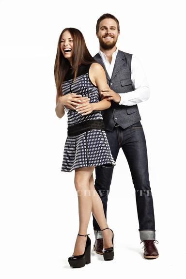 Kristin Kreuk & Stephen Amell, Glamour Magazine | Stylish ...