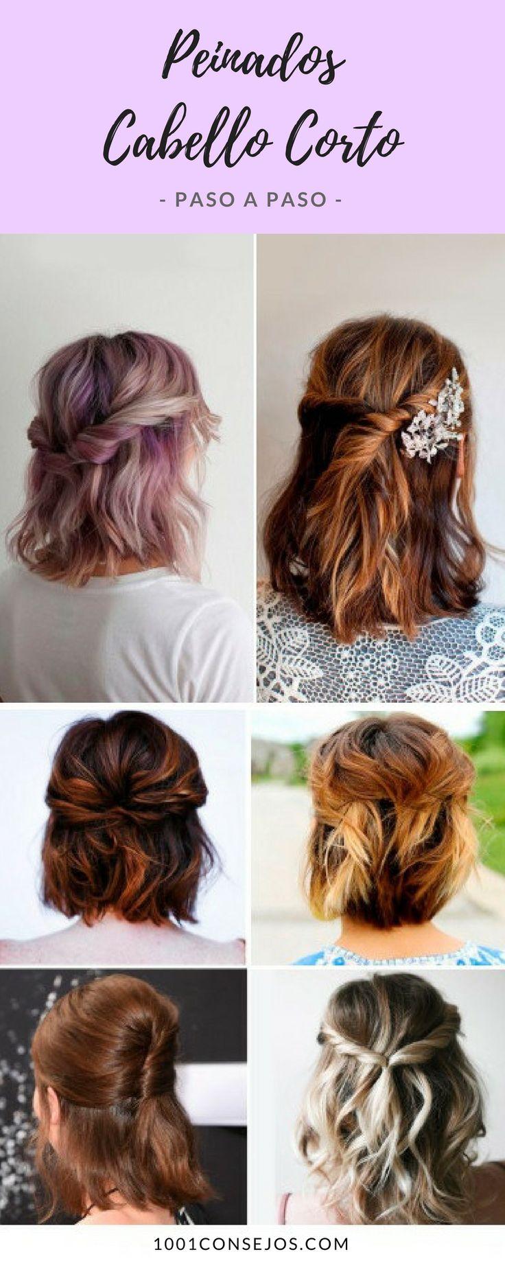 Peinados para cabello corto paso paso