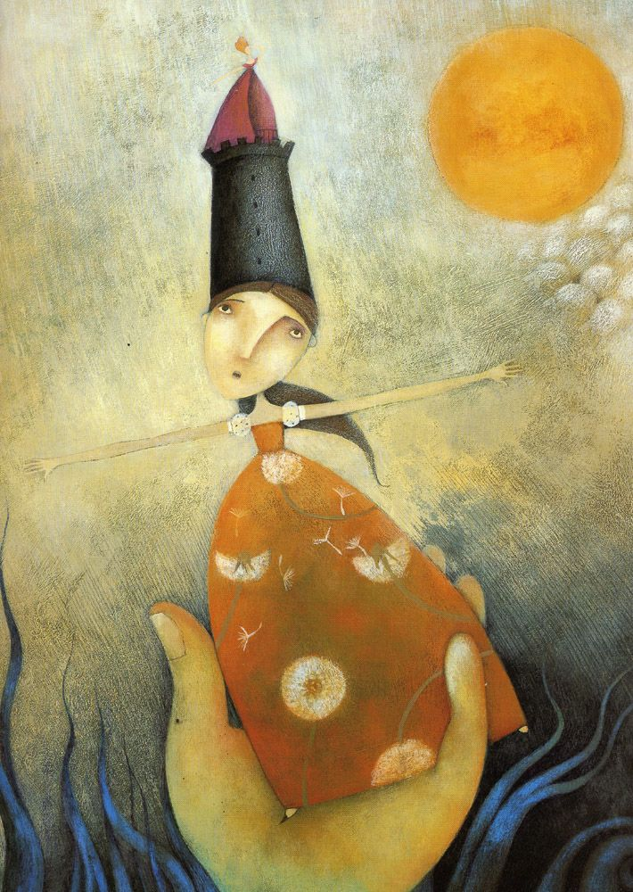 "Alessandra Cimatoribus illustration for ""Bluebeard""."