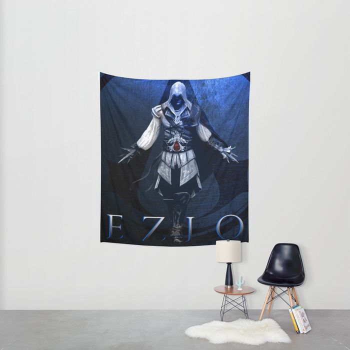 Ezio Auditore Wall Tapestry. 20% Off + Free Worldwide Shipping on Everything - Sale Ends Tonight at Midnight PT! #sales #save #discount #freeworldwideshipping #walltapestry #ezioauditore #ezioauditorewalltapestry #assassinscreedwalltapestry #gaming #gamer #gifts #homedecor #gamersroom
