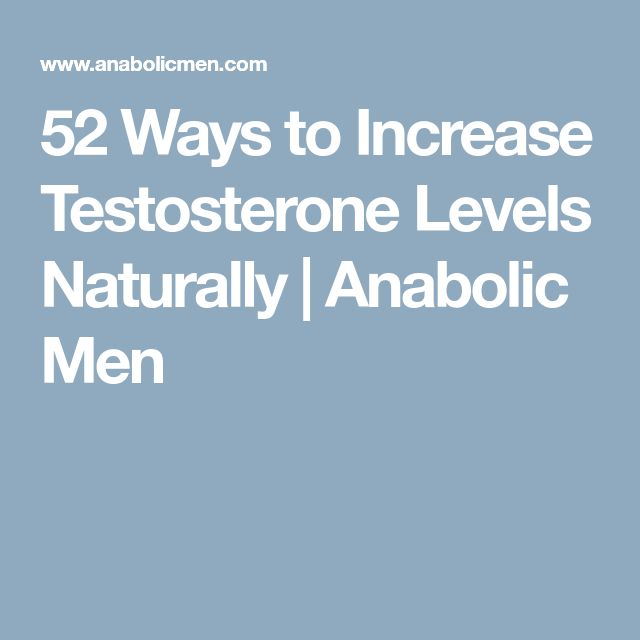 52 Ways to Increase Testosterone Levels Naturally   Anabolic Men