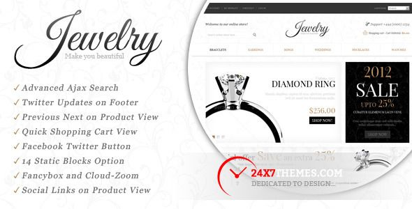 This Deals Jewelry Store Magento ThemeThis site is will advise you where to buy