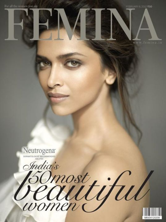 Deepika Padukone on the cover page of Femina