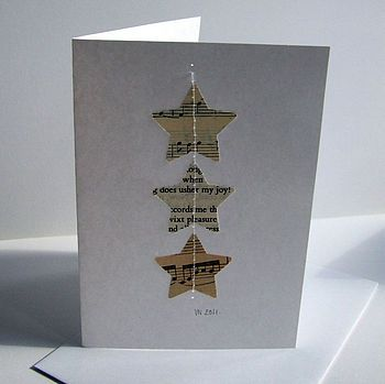 Stars: sewn for Christmas card