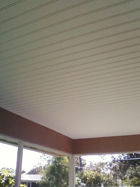 vinyl screen porch systems | Porch Ceiling Done in Pro Bead Vinyl Soffit