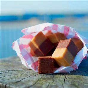 Stripy chocolate-butterscotch fudge recipe. Get the best of both with this chocolate and butterscotch fudge recipe. It makes a great gift - if you can bear to part with it.