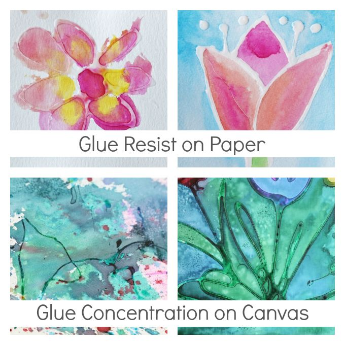 Glue Art on Paper vs Glue Art on Canvas