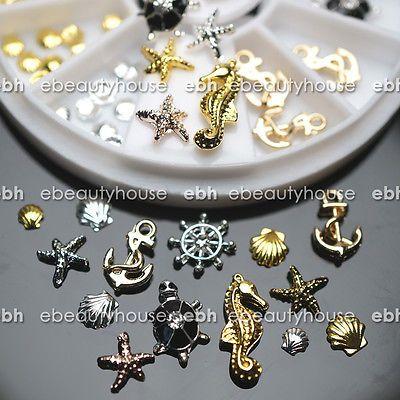 3D Nail Art Decoration Ocean Alloy Jewelry Glitter Rhinestones + Wheel #EB-077 1.87e ainakin juur nyt hinta.