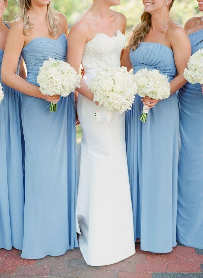 Pretty pastel bridesmaid gowns: http://www.stylemepretty.com/washington-dc-weddings/2016/03/21/timeless-elegant-black-tie-washington-d-c-wedding/   Photography: Jodi Miller - http://www.jodimillerphotography.com/