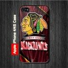Chicago Black Hawks NHL Sports iPhone 4, 4S Case Black Case #iPhone4 #iPhone4 #PhoneCase #iPhone4Case #iPhone4Case