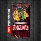 Chicago Black Hawks NHL Sports iPhone 4, 4S Case Black Case #iPhone4 #iPhone4 #PhoneCase #iPhone4Case #iPhone4Case