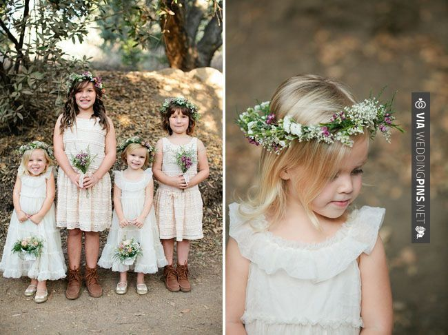 Cool - Eco-Friendly Boho Wedding: Jessica + Kevin | Green Wedding Shoes Wedding Blog | Wedding Trends for Stylish + Creative Brides charming flower crowned flower girls | CHECK OUT MORE GREAT FLOWER GIRL AND RING BEARER PHOTOS AND IDEAS AT WEDDINGPINS.NET | #weddings #wedding #flowergirl #flowergirls #rings #weddingring #ringbearer #ringbearers #weddingphotographer #bachelorparty #events #forweddings #fairytalewedding #fairytaleweddings #romance