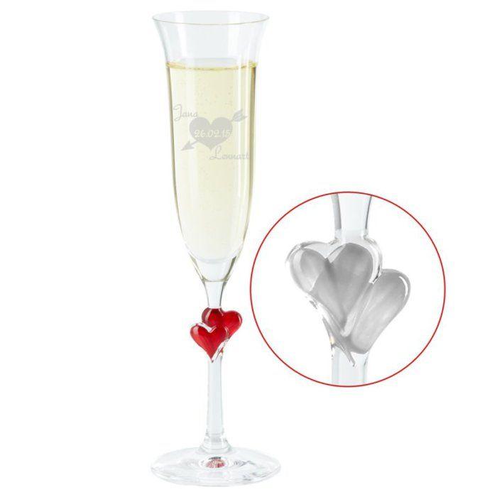 Sektglas Pfeilherz Mit Gravur Sektglaser Gravur Champagner