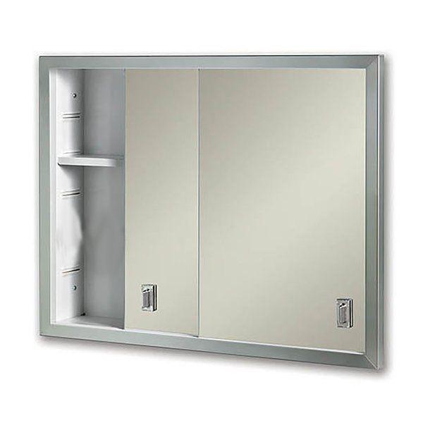 Odelia Edge Mirror Door 24 X 20 Recessed Framed Medicine Cabinet