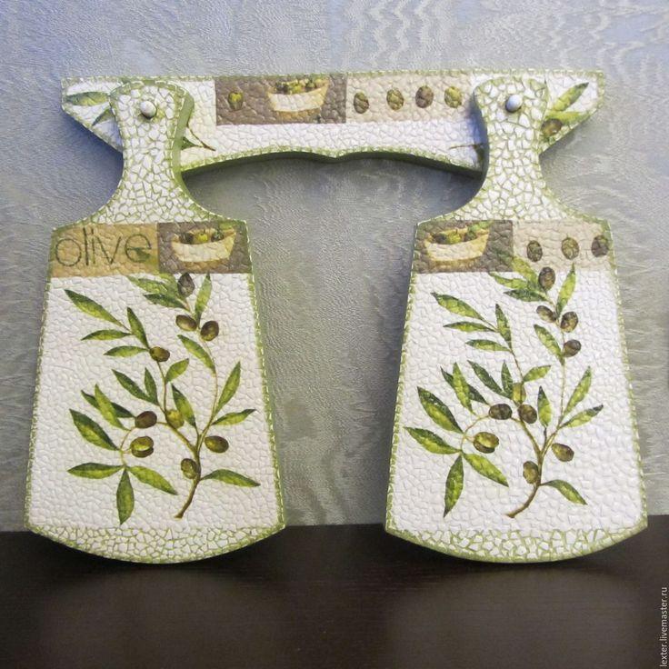 Купить Кухня ручной работы. Деревянные доски разделочные Олива - оливковый, набор для кухни, оливки