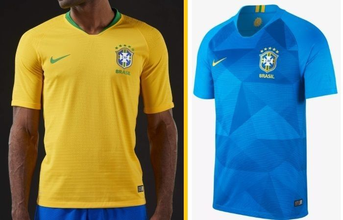 san francisco c4a1c 22a91 Brazil home and away kits - jersey for world cup 2018   Fifa ...