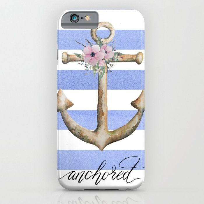 Anchored iPhone & iPod Case by The Willow Wood Studio   Society6