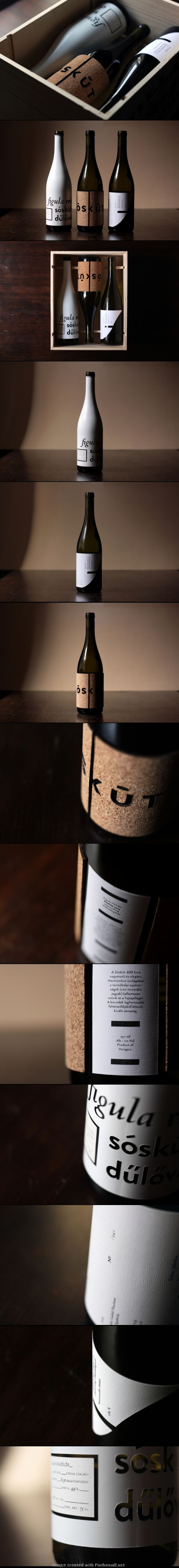 Sóskút Wine | Nice #packaging design with a strong typographical element | IG > The Dieline