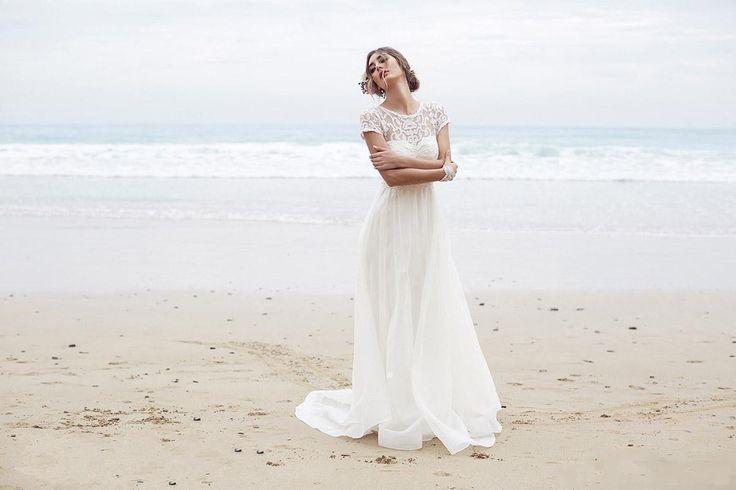 Brautkleider Weiss/Elfenbein Strand Hochzeitskleid 2016 Gr:32 34 36 38 40 42++++