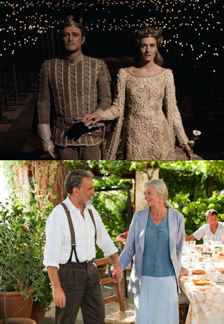 "Real life husband and wife Franco Nero and Vanessa Redgrave starred in ""Letters to Juliet"" in 2010. They fell in love while starring in ""Camelot"" together in 1967."