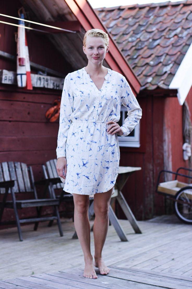 Marble dress from emma och malena, Käringön.